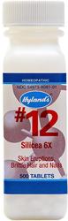 #12 Silicea 6X Cell Salt, Skin Eruptions, Brittle Hair & Nails 500 Tablets