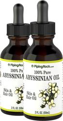 Abyssinian Oil 100% Pure 2 Dropper Bottles x 2 fl oz (59 ml)
