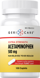 Acetaminophen 500 mg 100 Caplets
