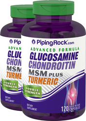 Advanced Double Strength Glucosamine Chondroitin MSM Plus, 120 Capsules, 2  Bottles