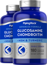 Advanced Double Strength Glucosamine Chondroitin MSM Plus Turmeric, 180 Quick Release Capsules
