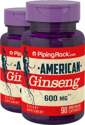American Ginseng 600  2 Bottles x 90 Capsules