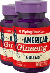 American Ginseng 600  2 Bottles x 90 Capsules