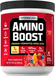 Amino Boost BCAA Powder (Natural Fruit Punch), 16.9 oz (480 g)