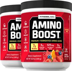 Amino Boost BCAA Powder (Natural Fruit Punch), 16.9 oz (480 g) Bottle