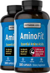 AminoFit Essential Amino Acids, 3000 mg (per serving), 300 Capsules