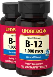 B-12 1,000 mcg Timed Release, 100 Tabs x 2 bottles