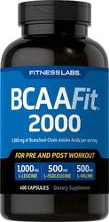 BCAAFit 2000, 2000 mg (per serving), 400 Capsules