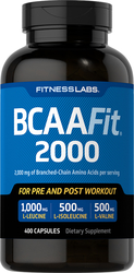 BCAAFit 2000, 2000 mg (per serving), 400 Capsules