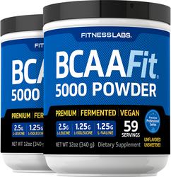 BCAAFit  5000 Powder, 5000 mg (per serving), 12 oz (340 g) Bottle