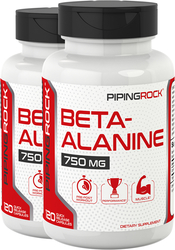 Beta Alanine 750 mg 2 Bottles x 120 Capsules