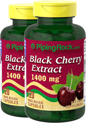 Black Cherry 1400 mg 2 Bottles x 120 Capsules