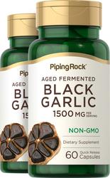 Black Garlic 1500 mg (per servings), 60 Capsules x 2 Bottles