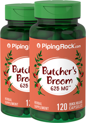 Butcher's Broom 625 mg, 120 Capsules x 2 Bottles