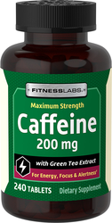 Caffeine 200 mg with Green Tea Extract, 240 Tablets