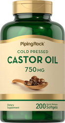 Castor Oil, 750 mg, 200 Softgels