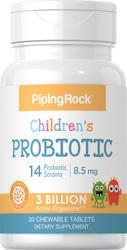 Children's Probiotic 14 Strains 3 Billion Organisms (Natural Berry) 30 Chewable Tablets