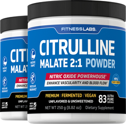 Citrulline Malate 2:1 Powder 8.82 oz x 2 Bottles