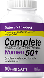 Complete Women's 50+ Multivitamin & Multimineral, 100 Coated Caplets