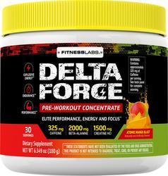 Delta Force Pre-Workout Concentrate Powder (Atomic Mango Blast), 6.34 oz