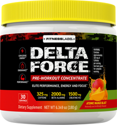 Delta Force Pre-Workout Concentrate Powder (Atomic Mango Blast), 6.34 oz