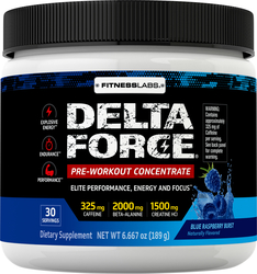Delta Force Pre-Workout Concentrate Powder (Blue Raspberry Burst), 6.6 oz (189 g)