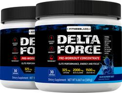 Delta Force Pre-Workout Concentrate Powder (Blue Raspberry Burst), 6.6 oz (189 g) Bottle