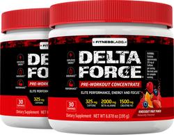 Delta Force Pre-Workout Concentrate Powder (Knockout Fruit Punch), 6.87 oz (195 g) Bottle