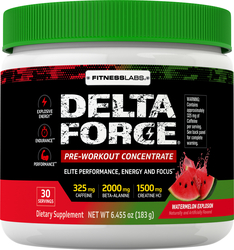 Delta Force Pre-Workout Concentrate Powder (Watermelon Explosion), 6.45 oz (183 g)