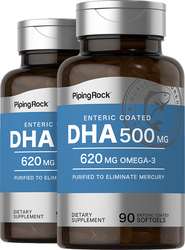DHA 500 mg Enteric Coated 2 Bottles x 90 Softgels