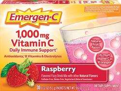 Emergen-C Vitamin C Powder Drink Mix (Raspberry), 30 Packets
