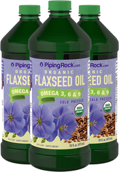 Flaxseed Oil  Organic 3 Bottles x 16 fl oz