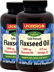 Flaxseed Oil with Lignans 180 Sg x 2 Bottles