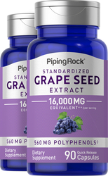 Grape seed Extract 2 x 16,000 mg 90 Capsules