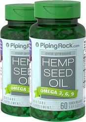 Hemp Seed Oil 700 mg 2 Bottles x 60 Softgels