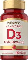 Buy High Potency Vitamin D3 250 Softgels