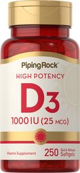 Buy High Potency Vitamin D3 250 Softgels