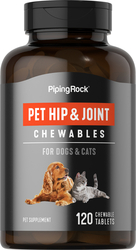 Joint & Hip Supplement for Dogs & Cats 120 Chewable Tablets