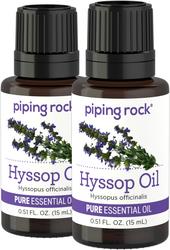 100% Pure Hyssop Essential Oil 2 Dropper Bottles x 1/2 oz (15 ml)