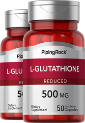 L-Glutathione (Reduced) 500 mg 2 Bottles x 50 Capsules