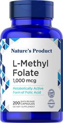 L-Methylfolate, 1000 mcg, 200 Quick Release Capsules