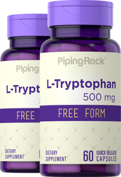 L-Tryptophan 500mg 2 Bottles x 60 Capsules