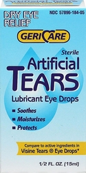 Lubricant Eye Drops Artificial Tears 0.5 fl oz (15 mL) Bottle