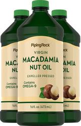 Macadamia Nut Oil 16 fl oz (473 mL) x 3 Bottles