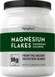 Magnesium Flakes from Zechstein Seabed, 2.5 lbs (40 oz)