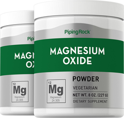 Magnesium Oxide Powder 2 Bottles x 8 oz