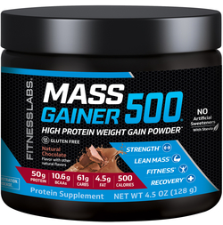 Mass Gainer 500 (Natural Chocolate) (Trial Size), 4.5 oz