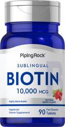 Biotin 10,000mcg 90 Fast Dissolve Tablets