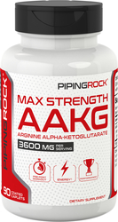 Max Strength AAKG Arginine Alpha-Ketoglutarate (Nitric Oxide Enhancer), 90 Caplets