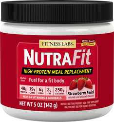 Meal Replacement Shake NutraFit (Strawberry Swirl) (Trial Size), 5 oz